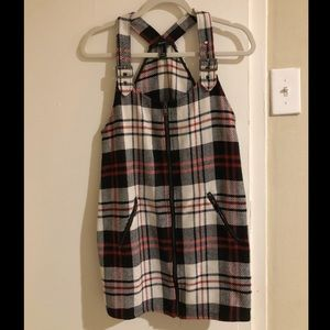 Forever21 Black, white, and red plaid dress